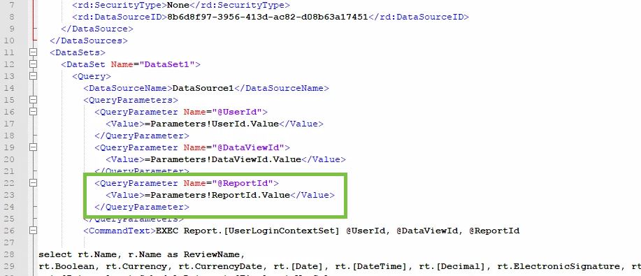 Configure a WRM Report to Use a Cached Data Set – Resolver