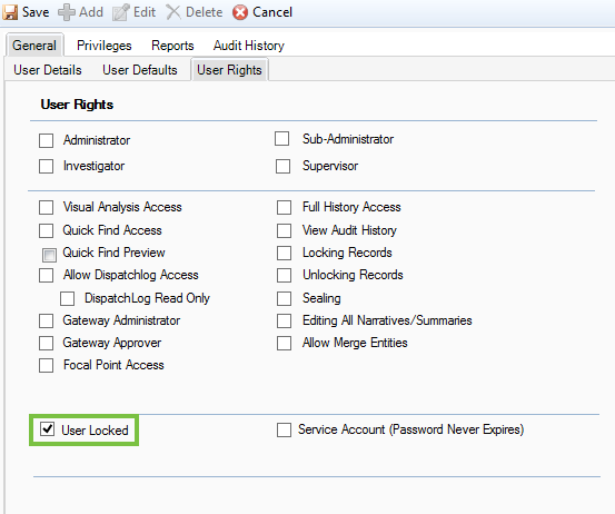Disable Perspective User Accounts – Resolver Support