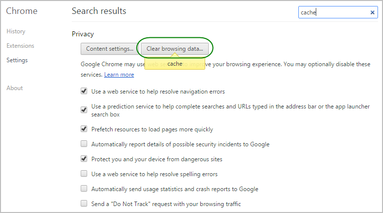Clear Your Browser's Cache (IE, Firefox & Chrome) – Resolver