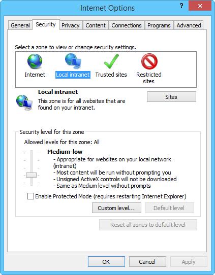 Internet Explorer Prompting for Windows Login Information