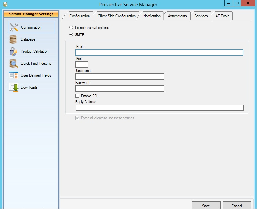 Connect to an External SMTP Server (v  4 6 1 and later